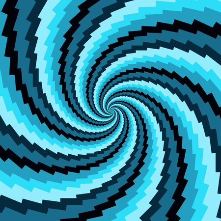 vintage patterns: Abstract vector background for design. Blue rotation.
