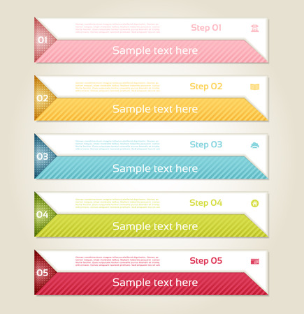 titles: Modern infographics options banner. Vector illustration. can be used for workflow layout, diagram, number options, web design, prints. Illustration