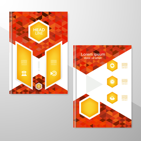 book vector: Abstract brochure or flyer design template. Book design, blank, print design, journal. Brochure vector. Brochure template. Flyer design. Flyer template. Brochure abstract design. Brochure background Illustration