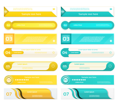 Modern infographics options banner. Vector illustration. can be used for workflow layout, diagram, number options, web design, prints. Illustration