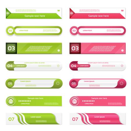 bannière moderne options de foot. Vector illustration. peut être utilisé pour la mise en page de flux de travail, diagramme, les options numériques, web design, impression.