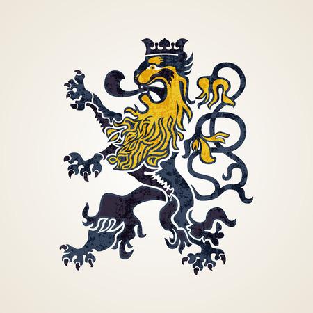 Creative Abstract Lion Logo Design Illustration