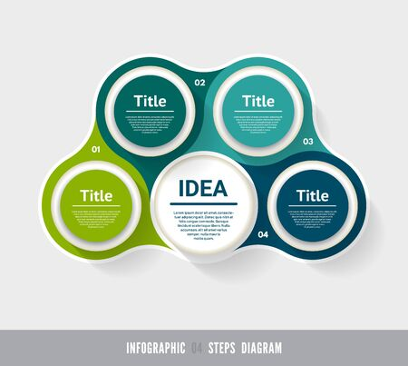 Vector circle infographic. Template for diagram, graph, presentation and chart. Business concept with 4 options, parts, steps or processes. Abstract background