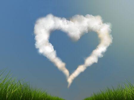 heart on the sky photo