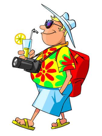 tourist on vacation Stock Vector - 10783940
