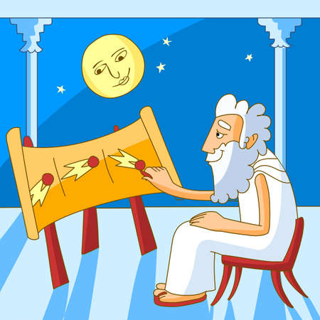 Greek astronomer Stock Vector - 10783932