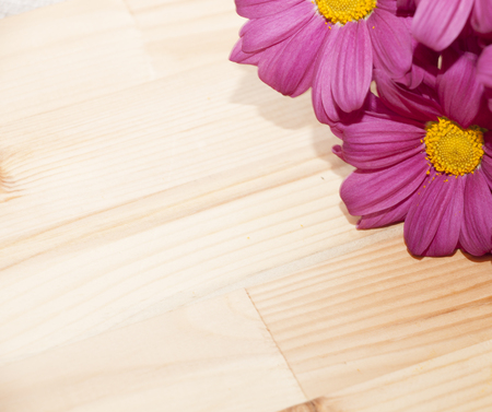 burgundy colour: frame with flowers in the corner - stock photo