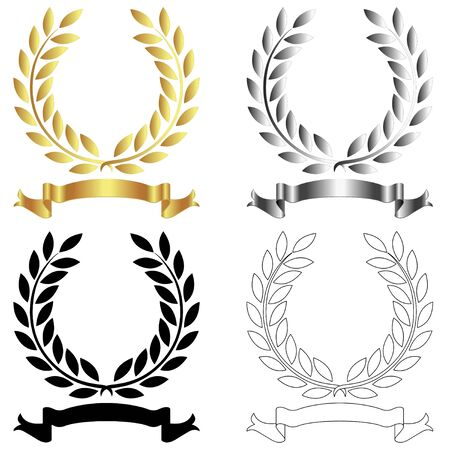 Laurel wreath vector on a withe background Illustration