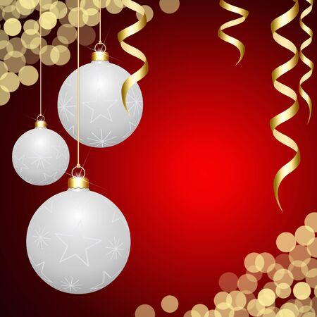 White 3D hanged Christmas balls