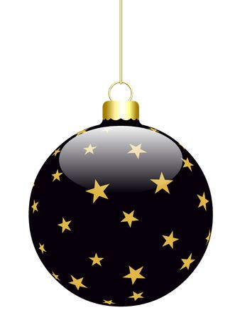 Hanged 3D Christmas Balls isolated on a white background