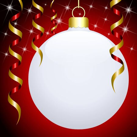 White 3D hanged Christmas ball