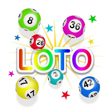 Lottery, Bingo, Loto Illustration
