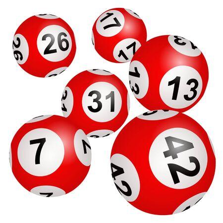 Lottery, Bingo, Loto Illustration