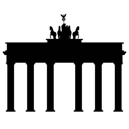 Symbol of Brandenburg gate in Berlin on a white background Иллюстрация