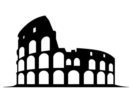 Vector illustration of Colosseum vector on a white background Ilustrace