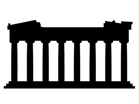 Vector illustration of Parthenon vector on a white background