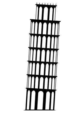 Pisa monument tower vector on a white background Ilustrace