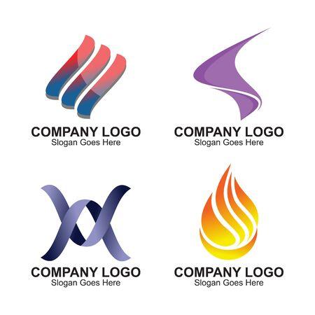 Flat design fire logo
