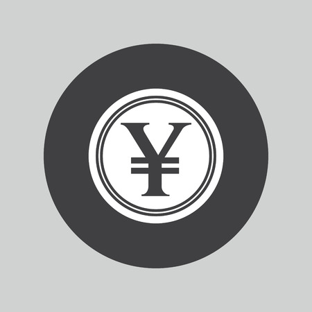 yen sign: Yen sign icon. JPY currency symbol. Money button. Illustration