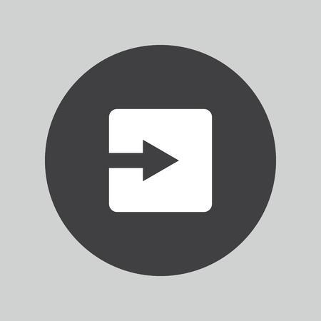 next button: Arrow sign icon. Next button. Navigation symbol. Illustration