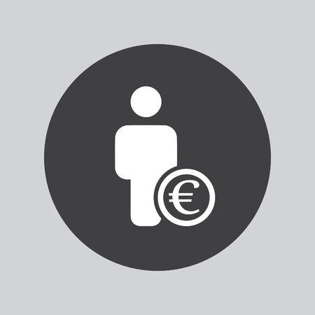 euro: Bank loan euro icon