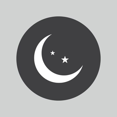 zzz: Sleep sign icon. Moon with stars button.