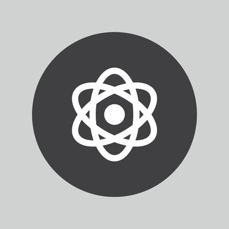 neutron: Atom icon. Atom symbol. Illustration