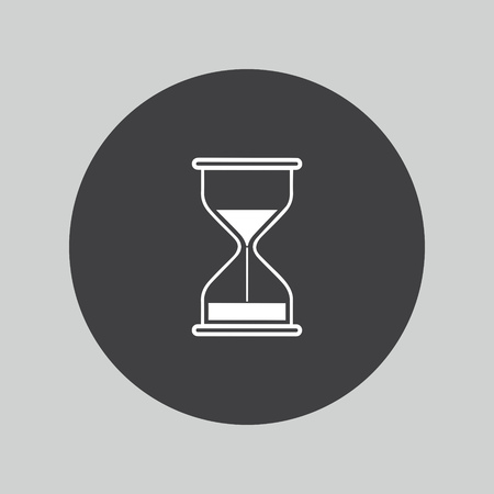sand timer: Hourglass icon. Sand timer symbol.
