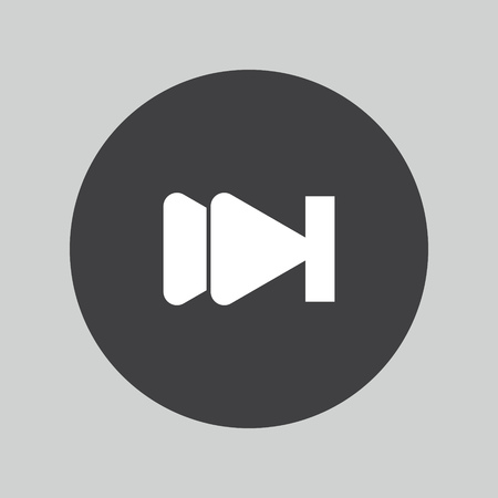 forward icon: media forward icon Illustration