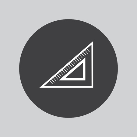 millimeter: triangle ruler icon