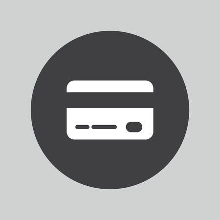 debit: Credit card sign icon. Debit card symbol. Illustration
