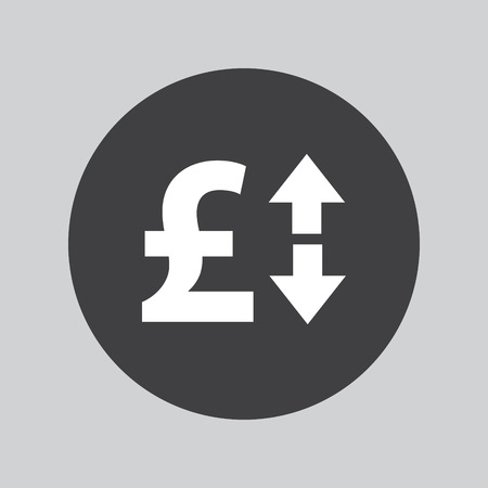 up and down: Pound up down icon Illustration