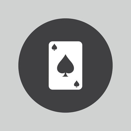ace: Casino icon. Playing cards symbol. Ace of hearts.