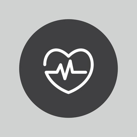 cardiogram: Heartbeat icon. Cardiogram symbol.
