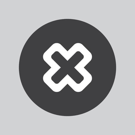 remove: Delete sign icon. Remove button