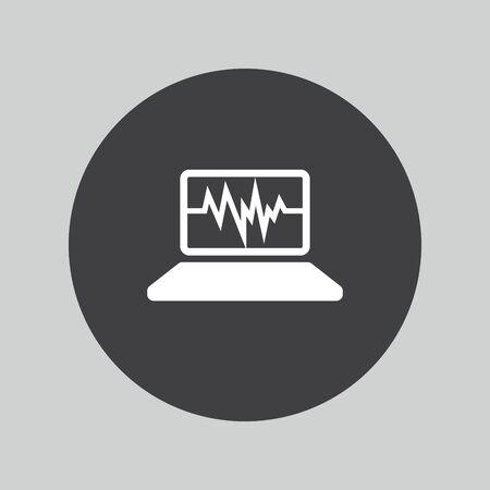 pc icon: Laptop sign icon. Notebook pc symbol. Illustration