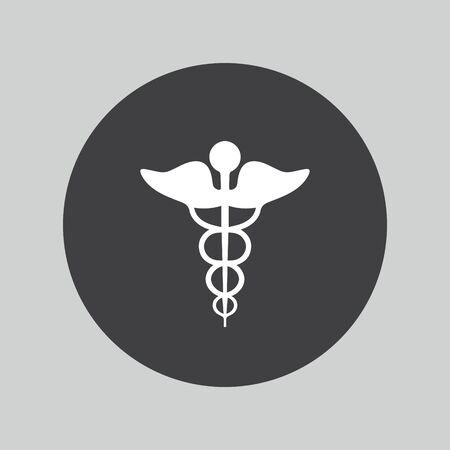 caduceo: caduceo icono Vectores