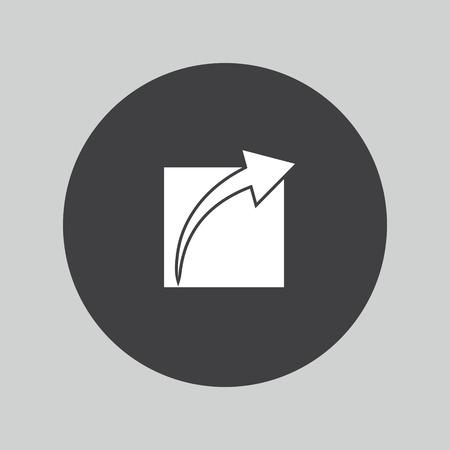 next button: Next button. Navigation symbol.