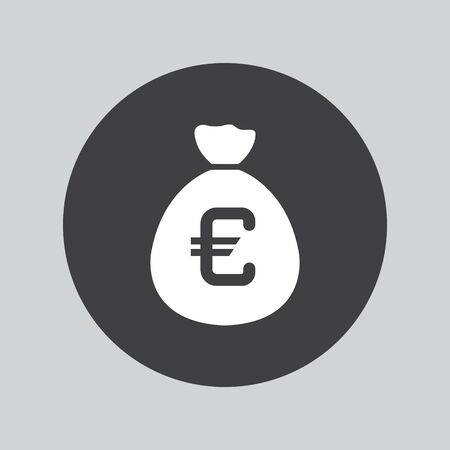 currency symbol: Money bag sign icon. Euro EUR currency symbol