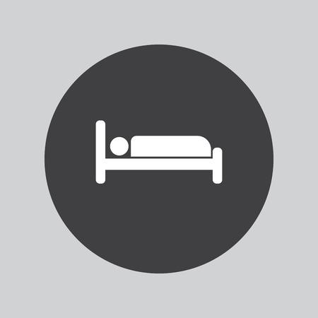 hotel bedroom: bedroom hotel icon