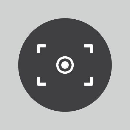 auto focus: Autofocus icon. Photo camera settings