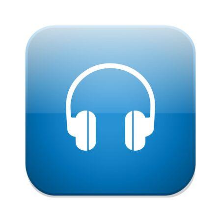 earphones: Headphones icon. Earphones button.