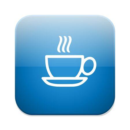 coffee icon: Coffee icon. Hot coffee button Illustration