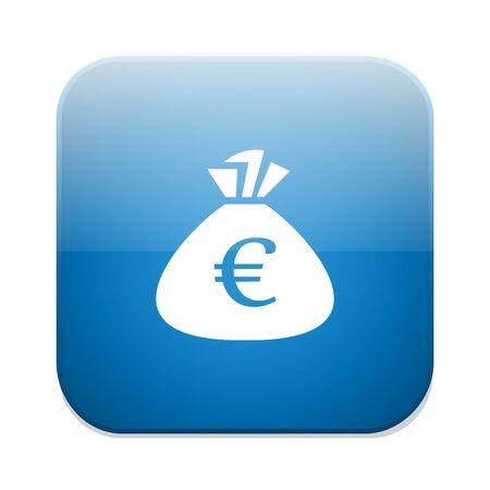 Euro money bag icon