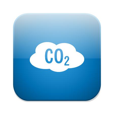co2: CO2 icon. Chemistry symbol. Illustration