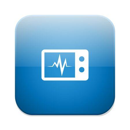 heart beats: monitoring Heart beats symbol.