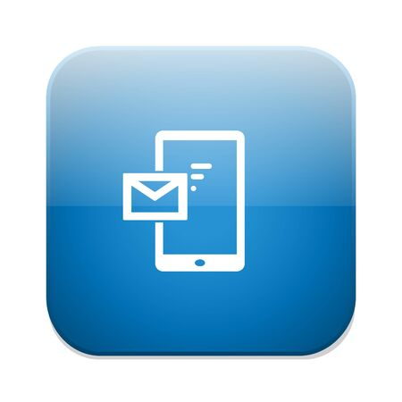 outcoming: Outcoming call icon. Smartphone symbol with message.