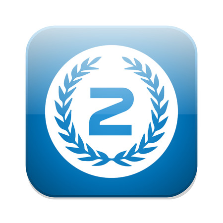 second prize: Second place award icon. Prize for winner symbol.
