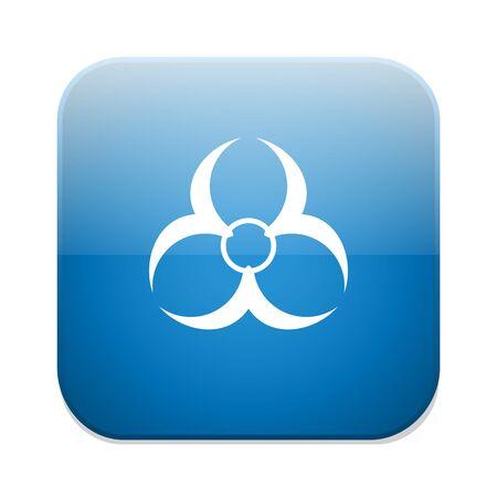 riesgo biologico: Icono de Biohazard. Símbolo de peligro.