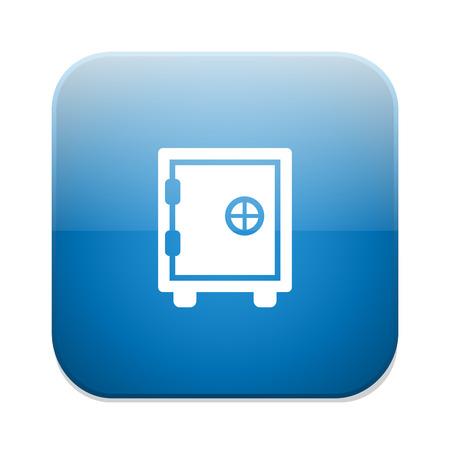 dial lock: safe icon Illustration